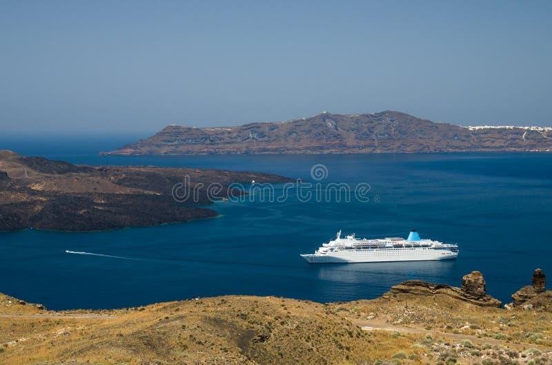 Download Santorini, Die Kykladen-Inseln, Griechenland Stockfoto - Bild von reiseflug, romantisch: 96930498