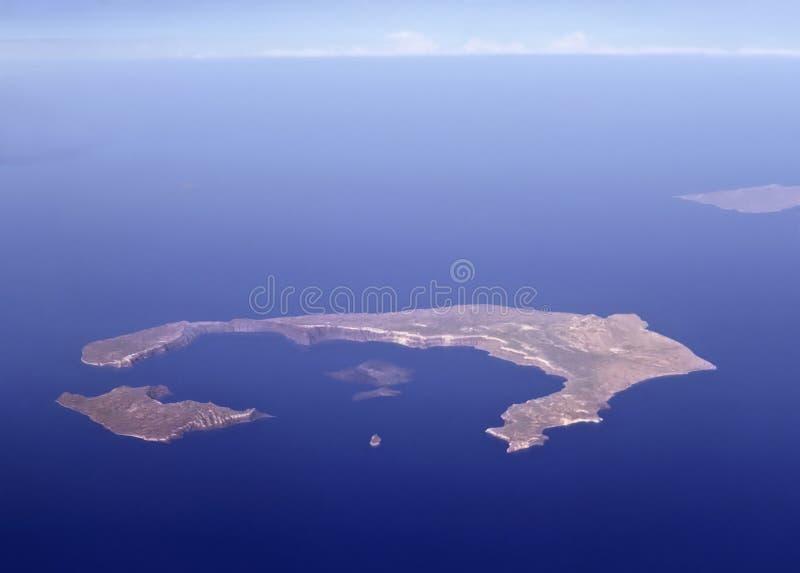 Santorini do ar fotos de stock royalty free