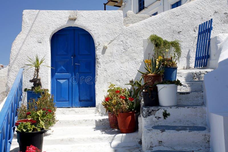 Santorini Eingang stockbild