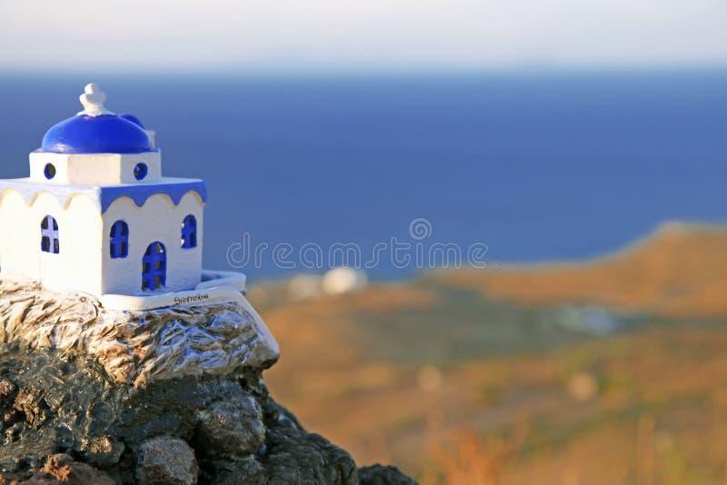 Santorini em Grécia foto de stock royalty free