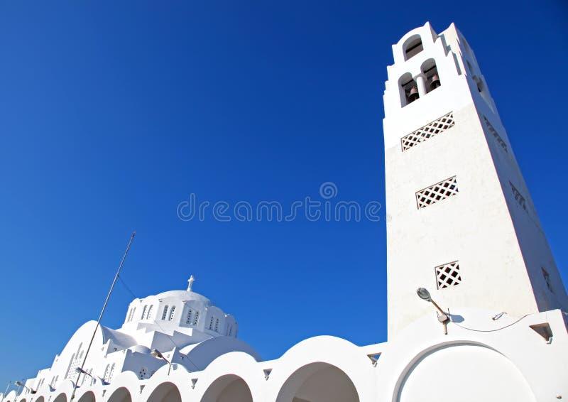 Santorini en Grecia fotografía de archivo libre de regalías