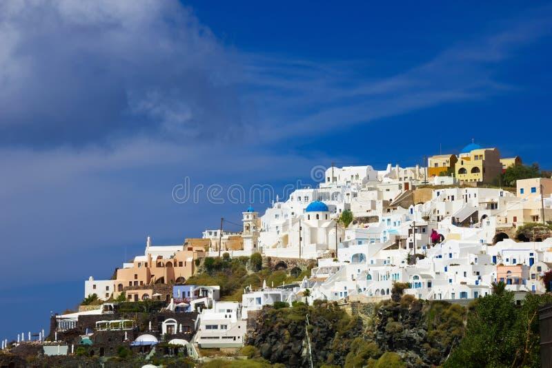 Santorini Fira royalty-vrije stock foto