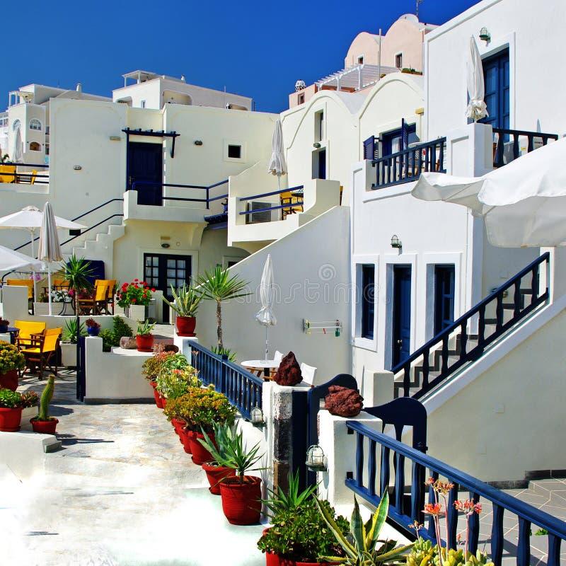 Santorini- Firostefani royaltyfri bild