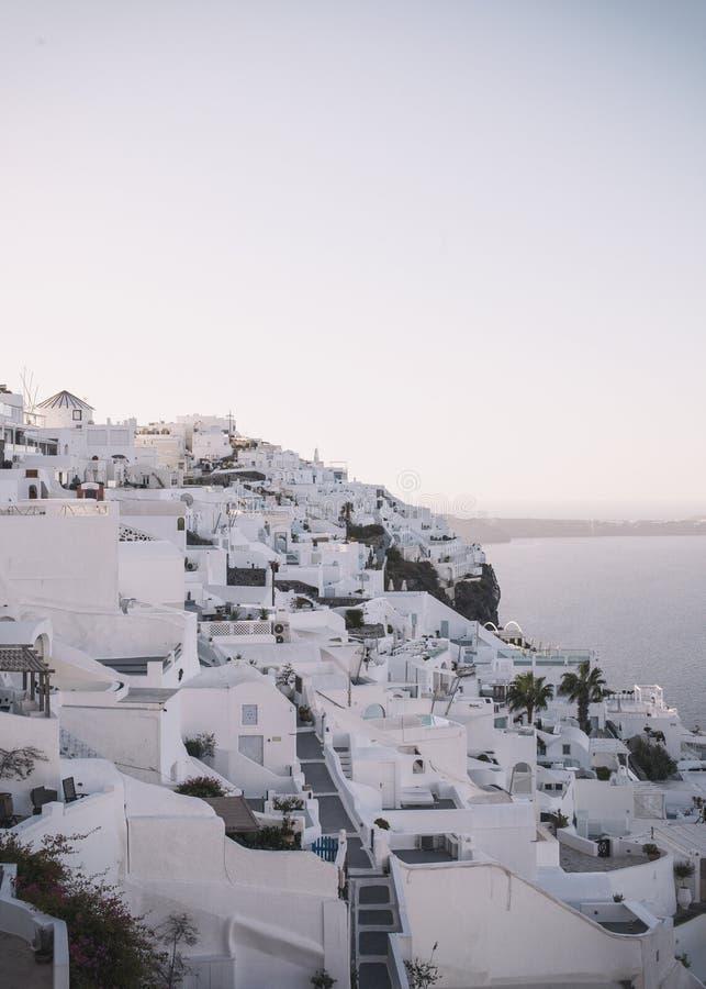 Santorini, Firostefani-Dorp royalty-vrije stock foto's