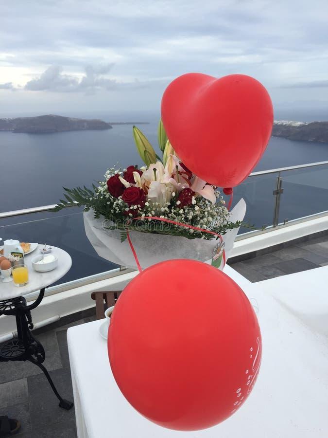 Santorini Flowers Romantic Island Greece. Santorini Flowers Greece Romantic Weeding Honeymoon Birthday royalty free stock image