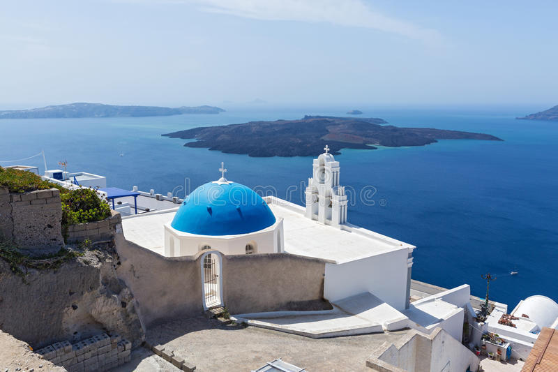 Santorini Grecee royaltyfria foton