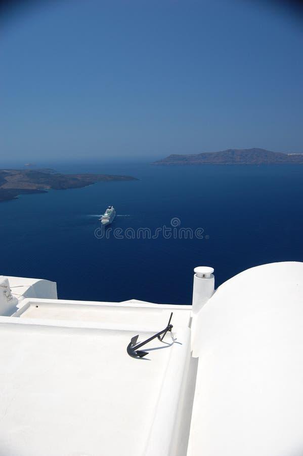Santorini Grecia 2 fotos de archivo libres de regalías