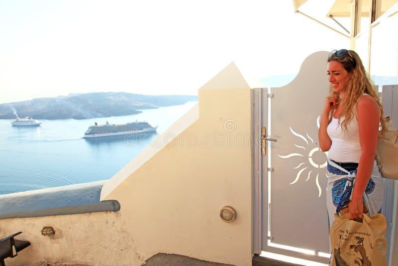 santorini greece zdjęcie stock