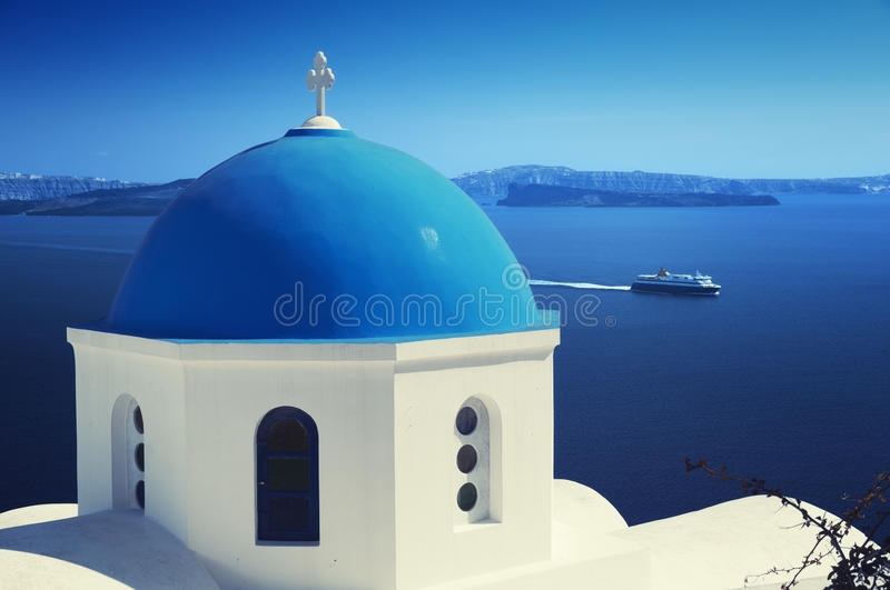 Download Santorini, Greece. stock image. Image of ferry, beauty - 19284731