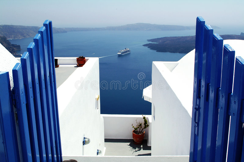 Santorini, Greece fotografia de stock