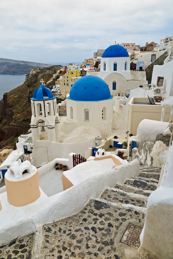Santorini, Greece. Architecture in Oia, Santorini, Greece royalty free stock images