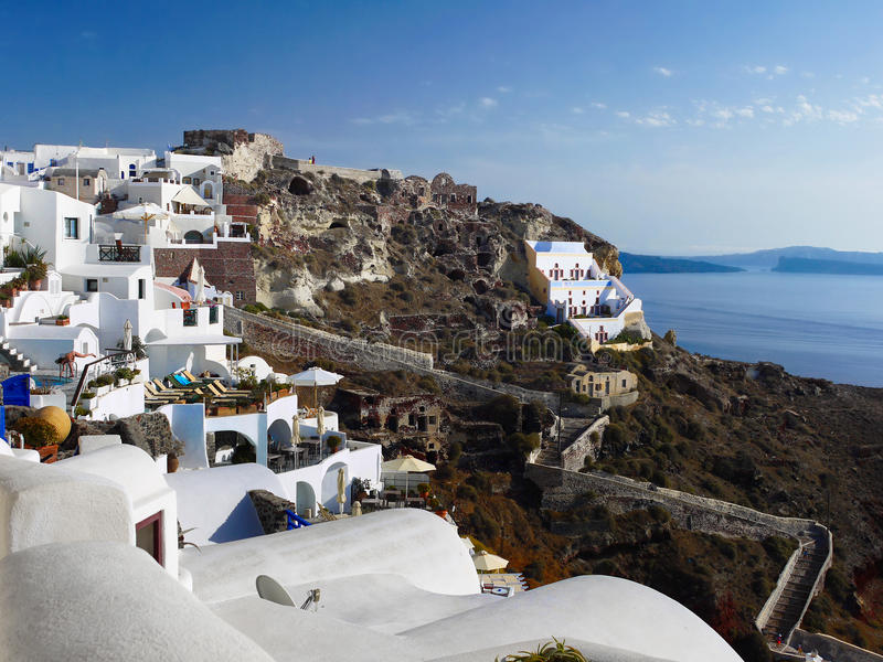 Santorini Greek Islands stock photo