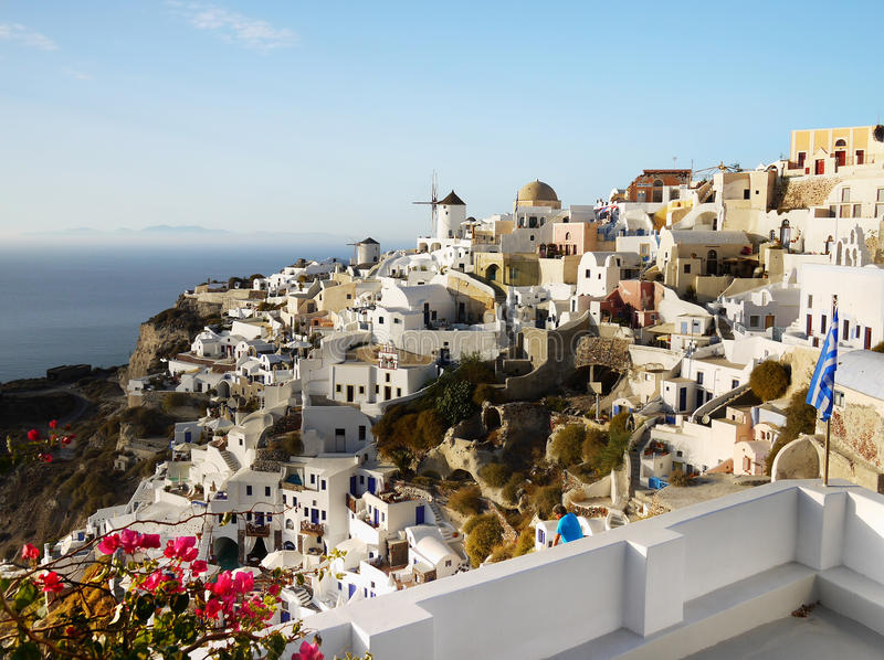 Santorini Greek Islands stock images