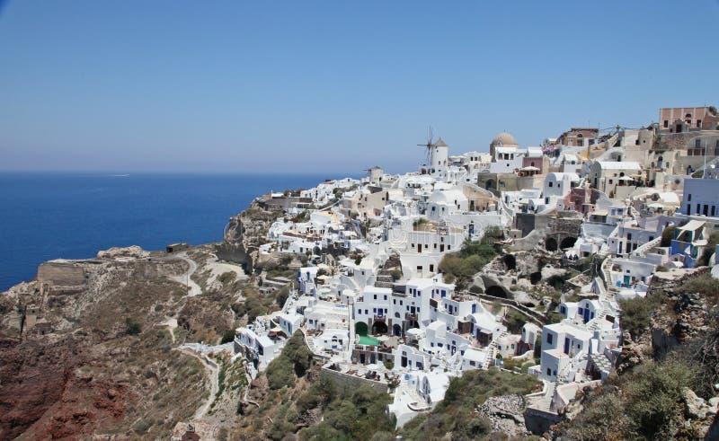 Santorini Grekland, Juli 2013 royaltyfri bild