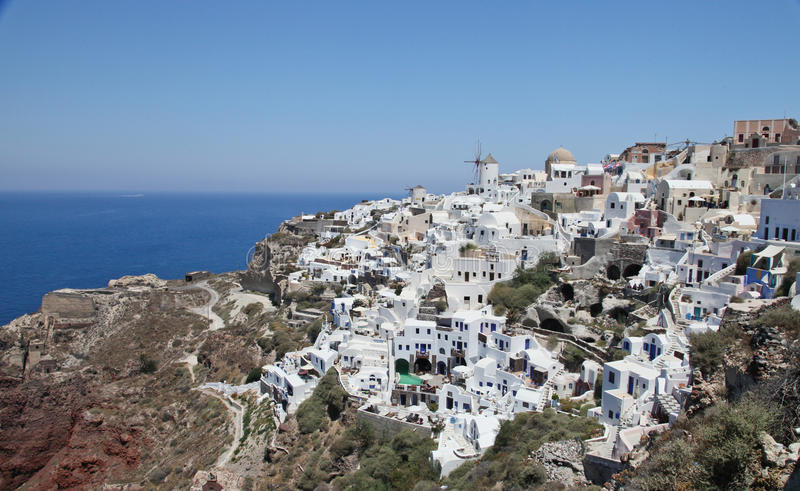 Santorini, Griechenland, im Juli 2013 lizenzfreies stockbild