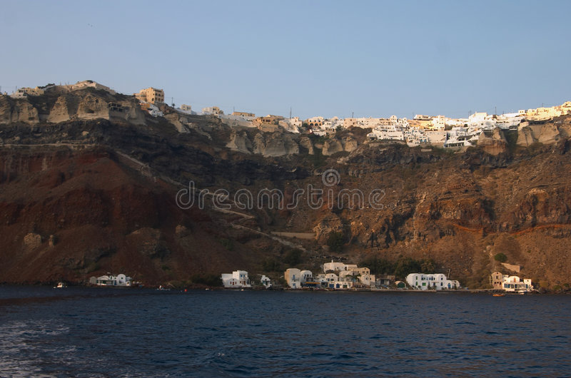 Santorini, Griechenland, Kessel lizenzfreie stockfotografie