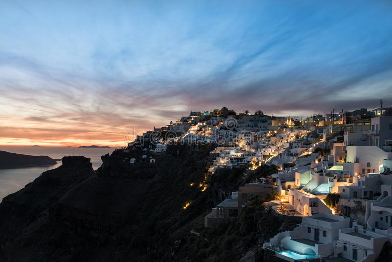 Santorini, Griekenland, Cyclade-Eilanden stock foto