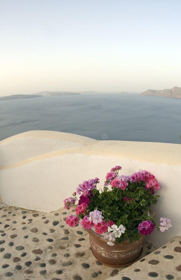Santorini increíble de la visión foto de archivo libre de regalías