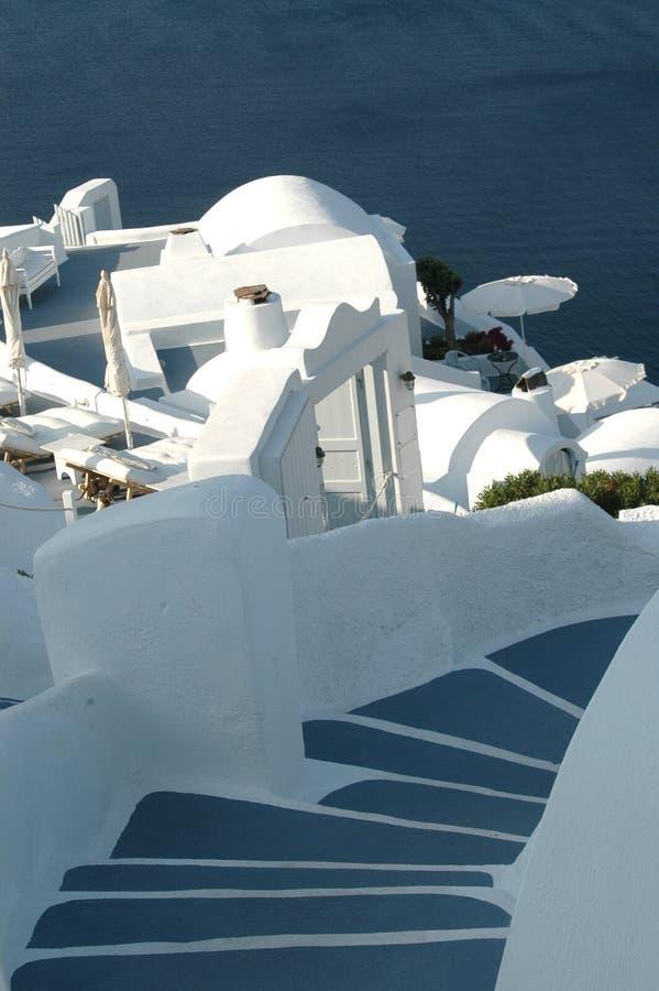 Santorini incroyable photographie stock libre de droits