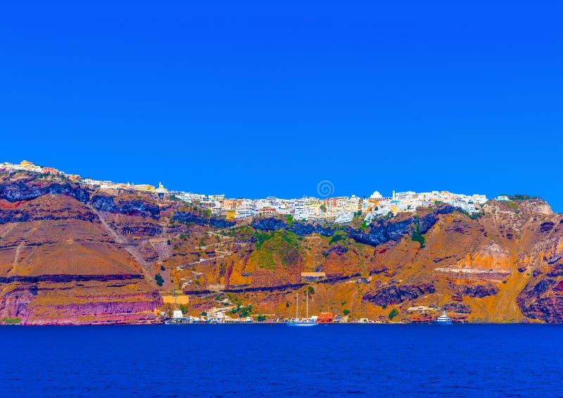 In Santorini-Insel in Griechenland stockbild
