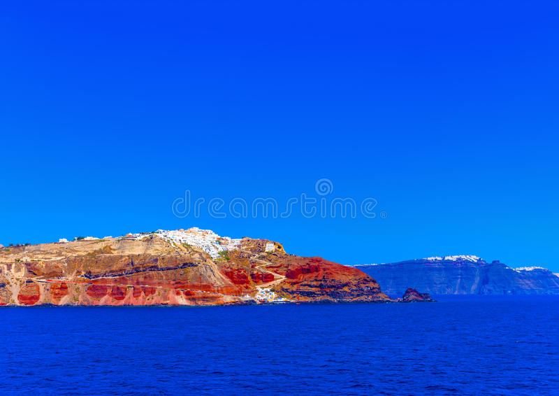 In Santorini-Insel in Griechenland lizenzfreies stockbild