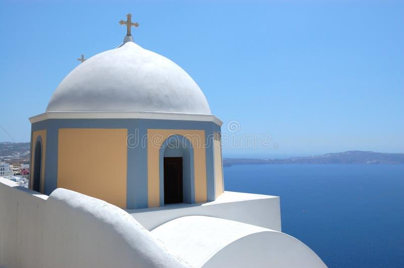 Santorini island  church view
