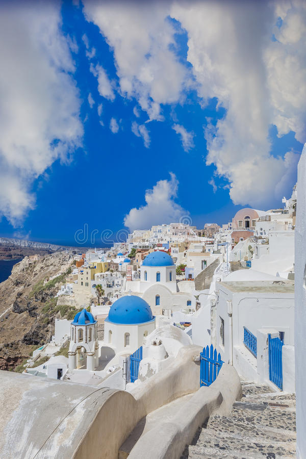 Santorini island, Greece. Oia town , Santorini island, Greece royalty free stock photos