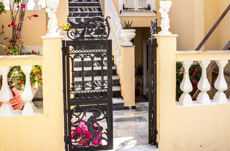 Santorini island, Greece. Typical greek building on Santorini island, Greece royalty free stock photography