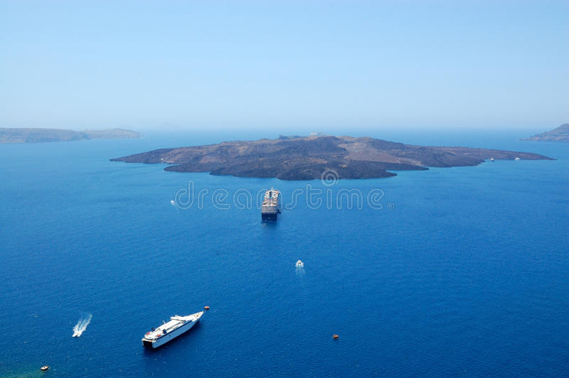 Download Santorini Island Volcano View Stock Image - Image: 23755811