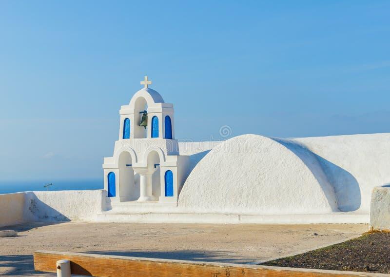 Santorini-Kapelle lizenzfreies stockfoto