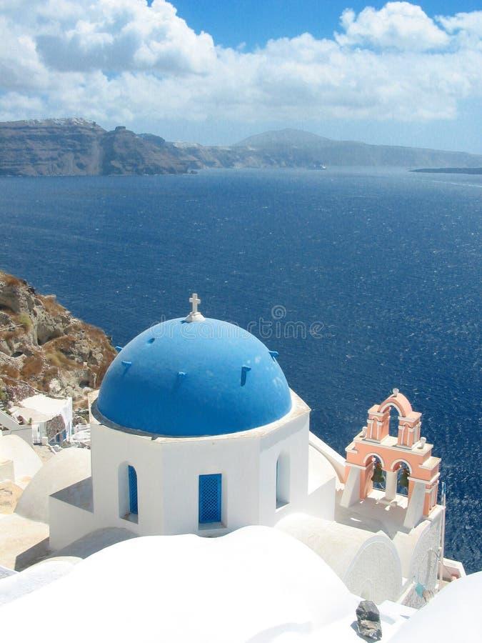 Santorini Kirche stockfotografie