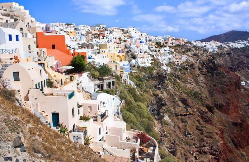 Santorini krajobraz obrazy royalty free
