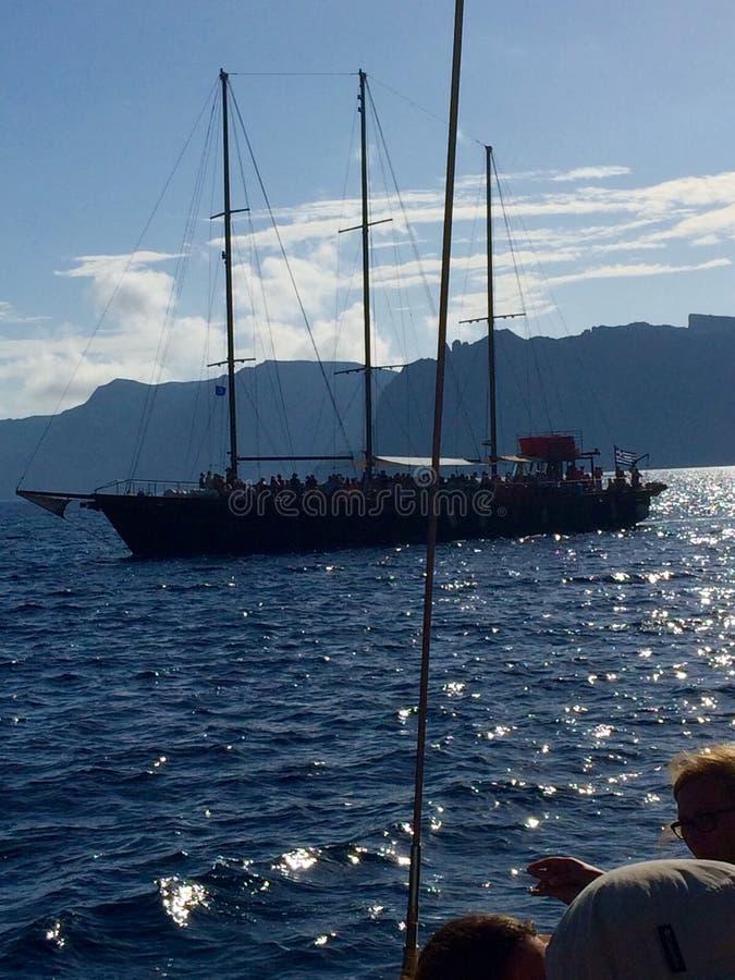 Santorini Kreuzen lizenzfreie stockfotografie