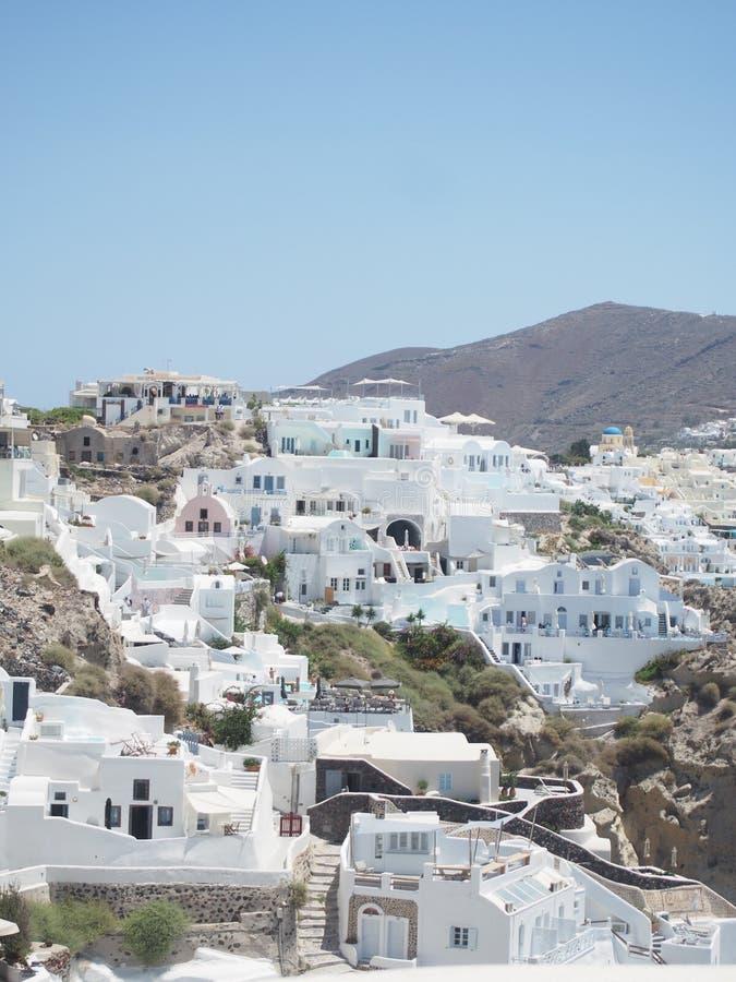 Santorini lavado blanco tradicional Grecia fotografía de archivo