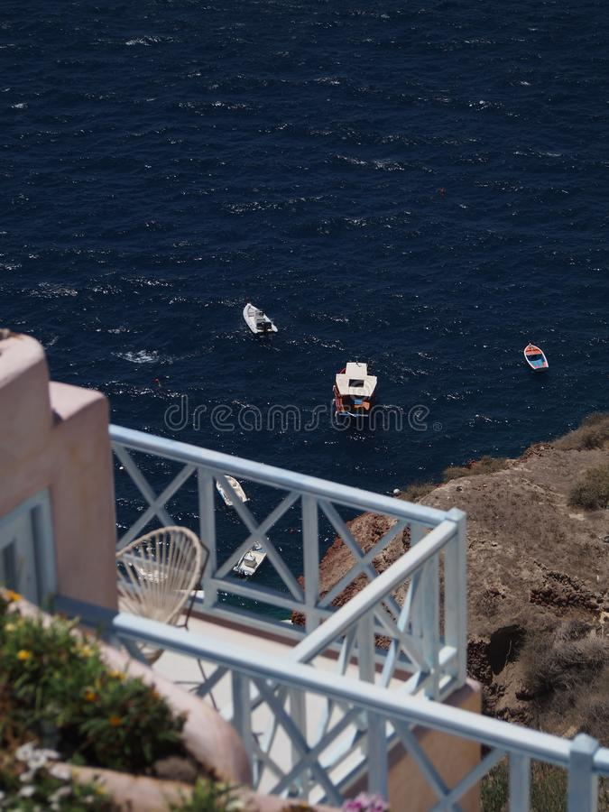 Santorini lavado blanco tradicional Grecia foto de archivo