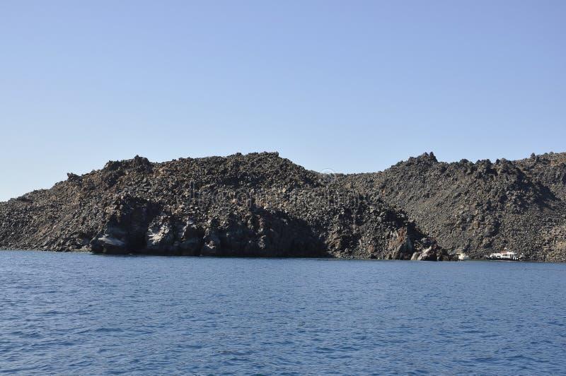 Santorini, le 2 septembre : Bateau à voile journay dans la caldeira de Santorini photos stock