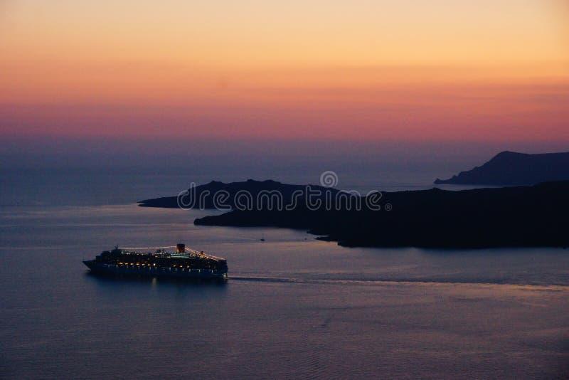 Santorini Magic Island in Greece royalty free stock photography