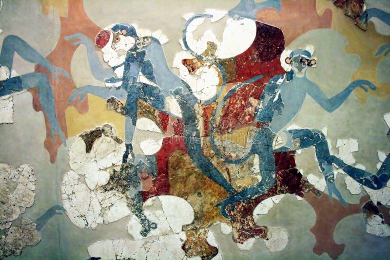 Download Santorini Museum redaktionelles foto. Bild von fresko - 27726321