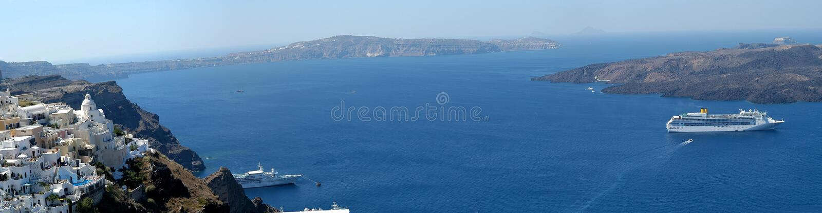 Download Santorini panorama stock image. Image of panoramic, pano - 20607