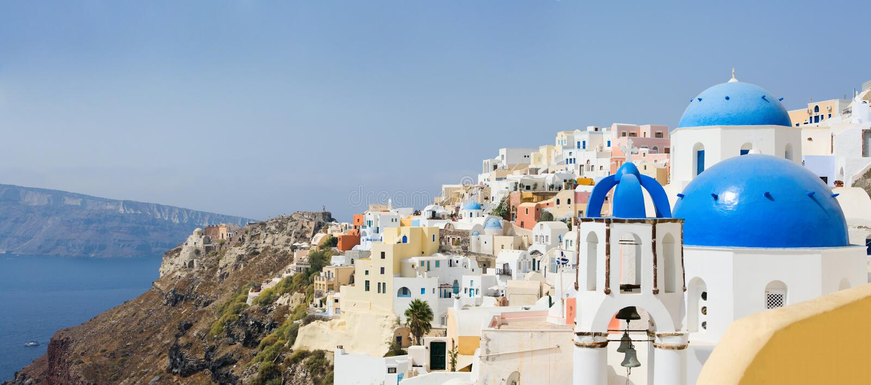 Download Santorini panorama stock image. Image of escape, island - 8318441