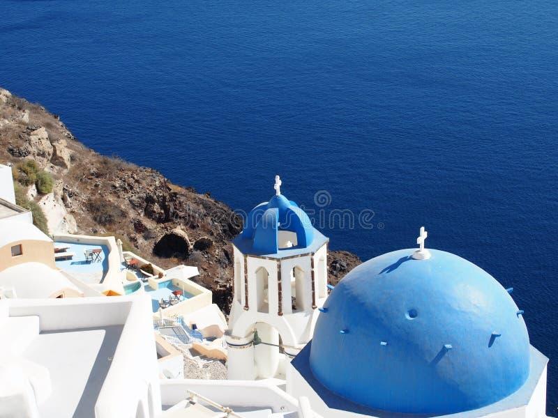 Santorini par jour images libres de droits