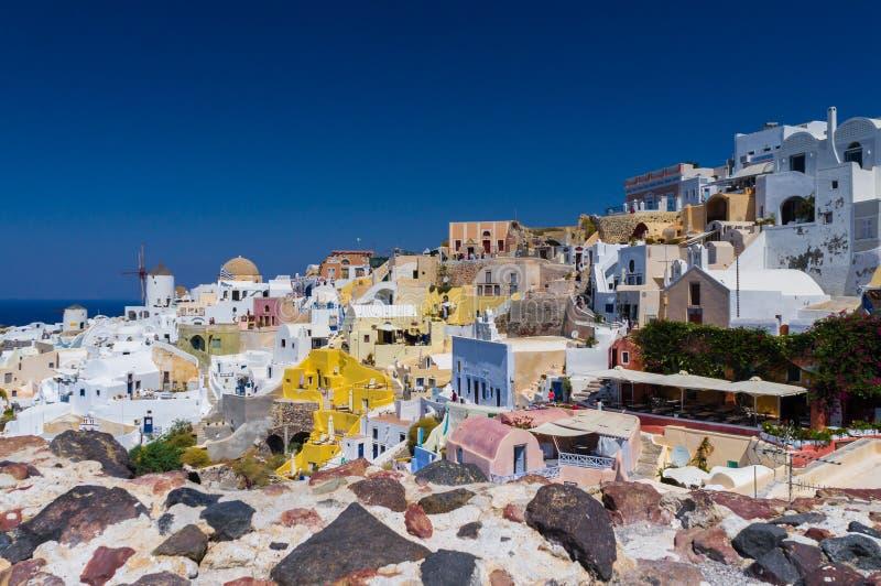 Santorini paradis på jord royaltyfria bilder