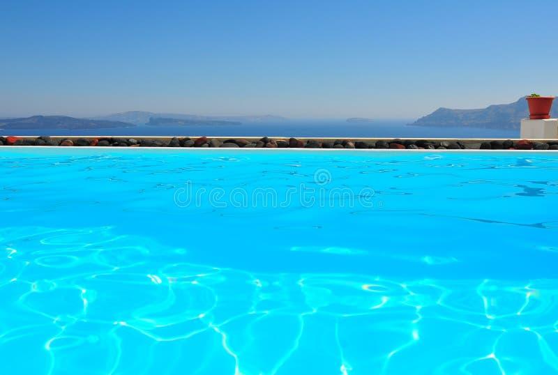 Santorini pela associação fotografia de stock royalty free
