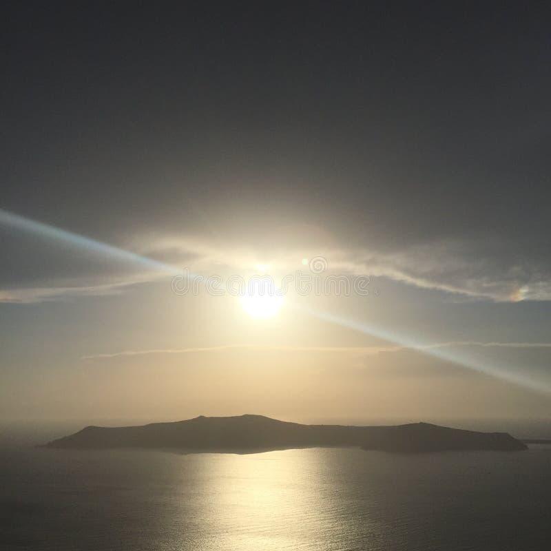 Santorini Romantic Island Greece royalty free stock photography