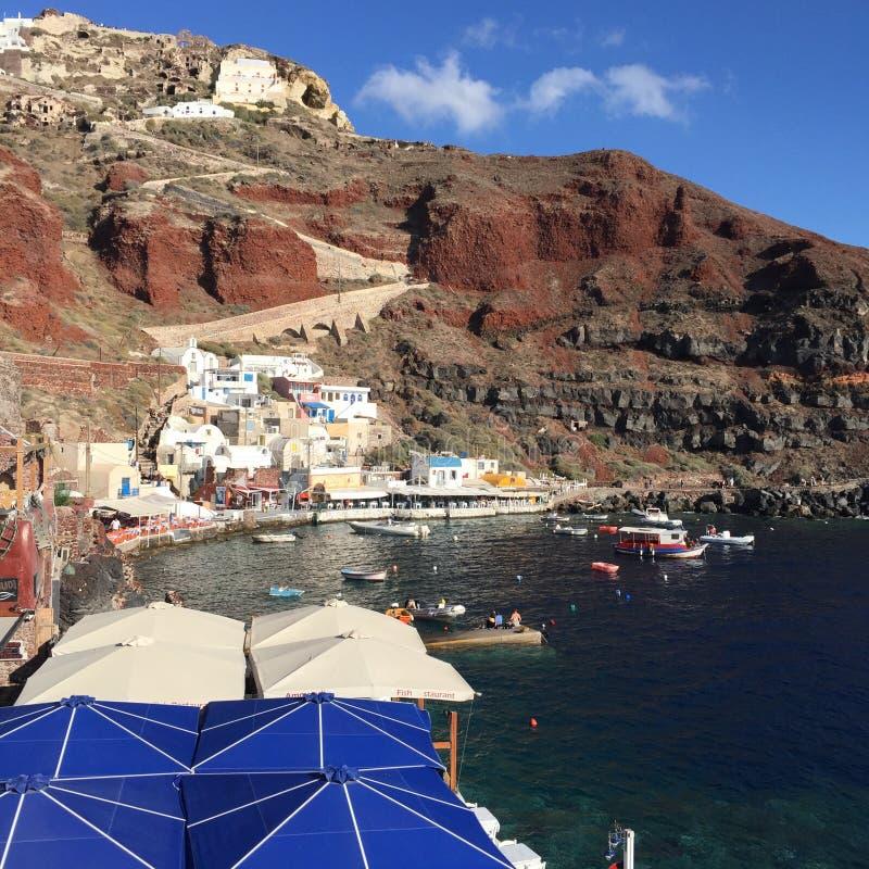 Santorini Romantic Island Greece. Santorini Greece Romantic Weeding Honeymoon Island Love Sea stock photo