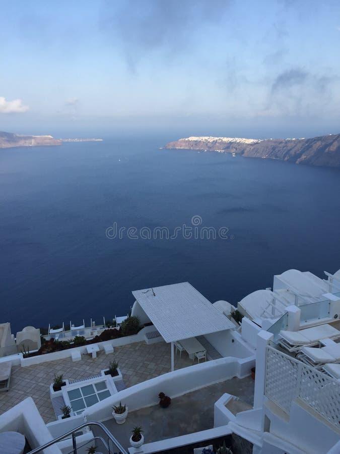 Santorini Romantic Island Greece. Santorini Greece Romantic Weeding Honeymoon Island Love Sea royalty free stock image
