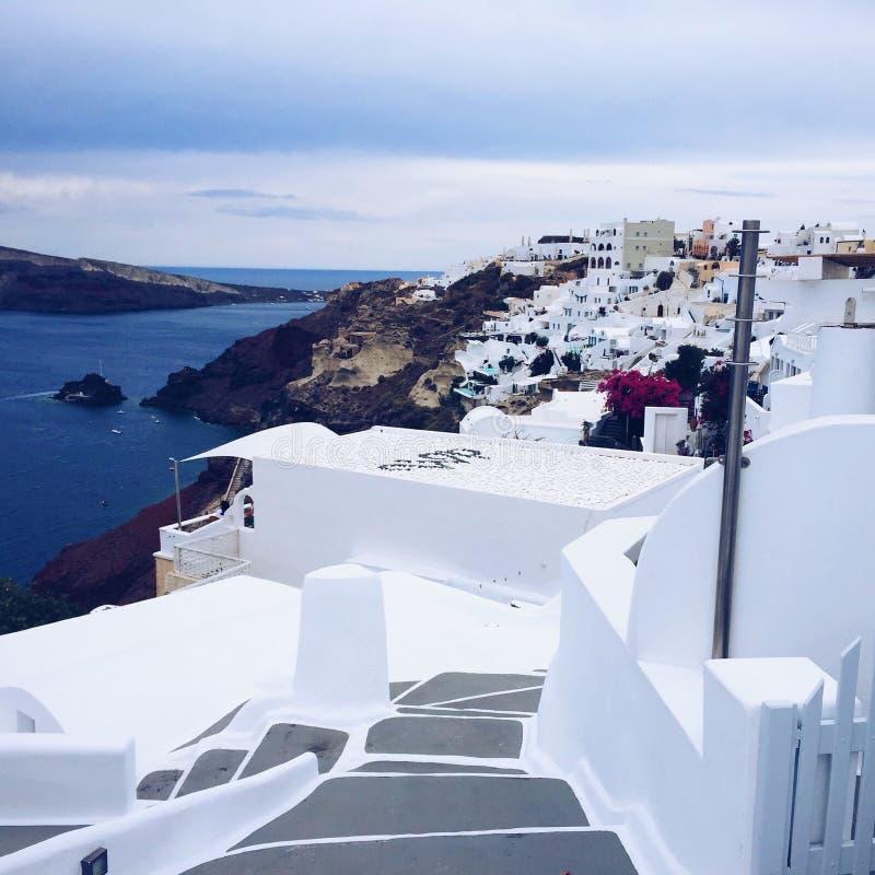 Santorini Romantic Island Greece. Santorini Greece Romantic Weeding Honeymoon Island Love Sea stock images