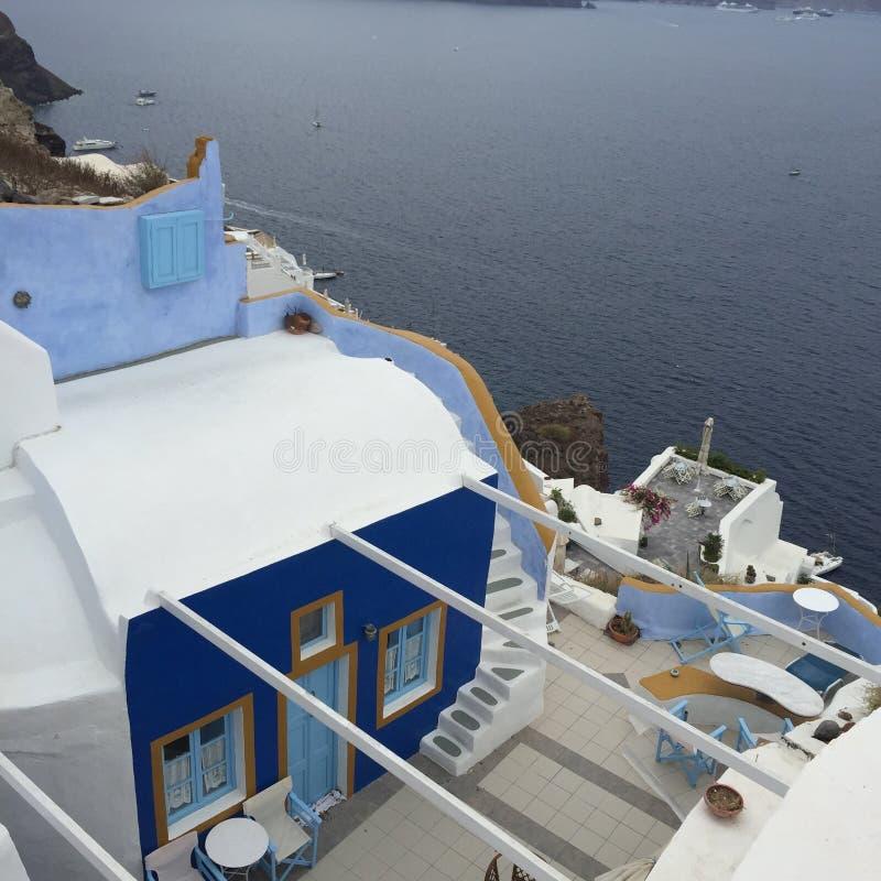 Santorini Romantisch Eiland Griekenland royalty-vrije stock afbeeldingen