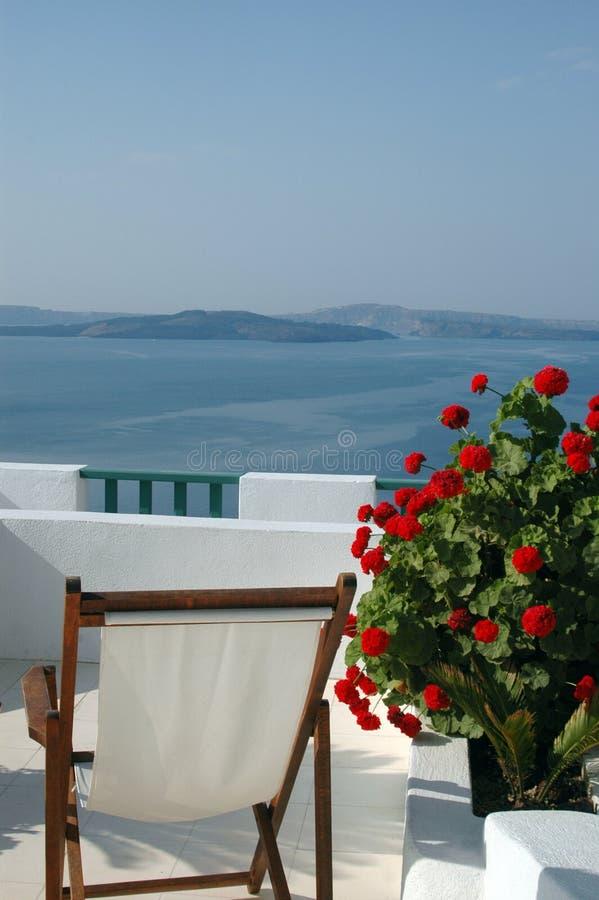Santorini scenico di vista fotografie stock libere da diritti