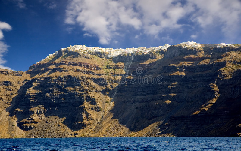 Download Santorini from the sea stock image. Image of volcanic - 2302923